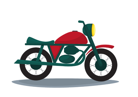 Vector flat illustration of a motorcycle.  イラスト・ベクター素材