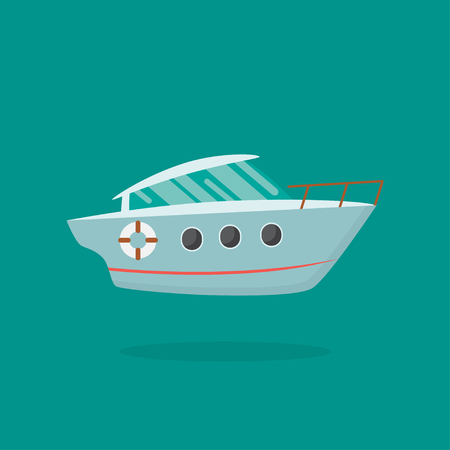 Vector illustration of a yacht.