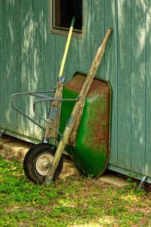 wheel barrel: retired wheel barrel