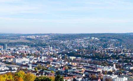 Panorama cityscape pforzheim in Baden-Wurttemberg Germany at blue sky