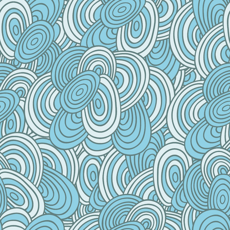 ellipse: abstract seamless pattern, blue, beige ellipse Illustration