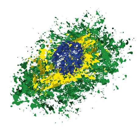 brazilian flag: Brazilian flag grunge abstract background