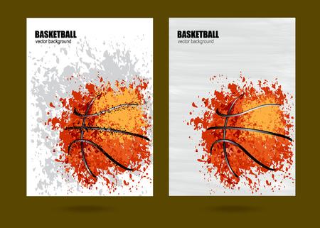 vector illustration Basketball, Basketball sports posters design, grunge design