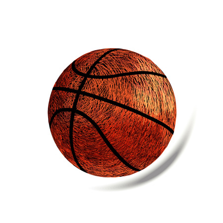 vector basketball, shadow, many lines