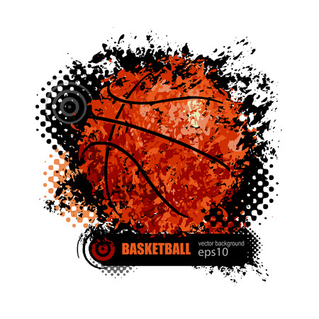 design for a basketball game, grunge style, grunge background, symbol, icon Illustration