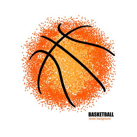 Basketball. Vector abstract ball. Stock Illustratie