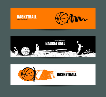 Basketball banner set of sports templates for the tournament basketball banner set of sports templates for the tournament abstract ball drawing of maxwellsz
