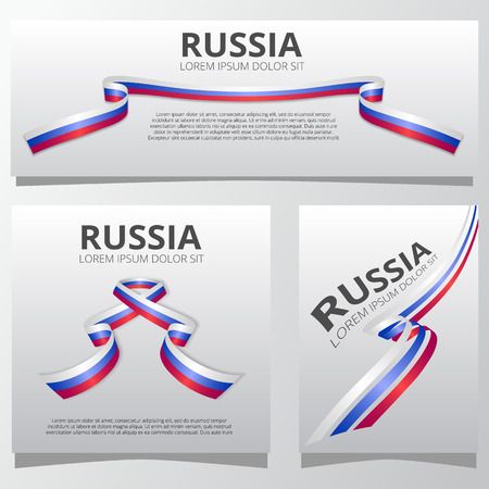 Set of banners with russian ribbons.