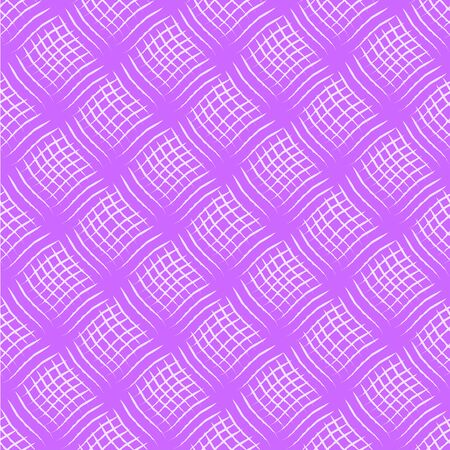 Weave seamless pattern with volume effect. Pink textured background. Drapery, stripes, cloth. Vector illustration.
