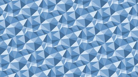 Abstract low poly geometric background with triangles in blue colors. Mosaic texture. Vector illustration.
