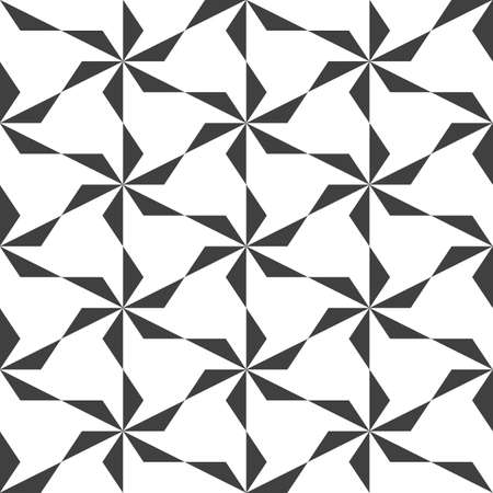 Black and white mosaic background. Seamless geometric pattern. Vector illustration EPS10. Stylish template made out of repeating triangles. Crystal texture. Floral ornament, pattern.