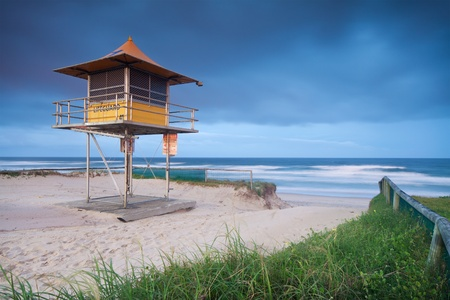lifeguard hut on australian beach with interesting clouds in background Stock Photo - 8671600