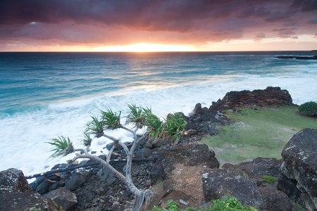 seascape of australia at sunrise (tweed heads,qld,australia) Stock Photo