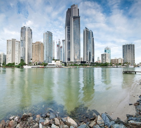during the day: modern city during the day on square format (gold coast, queensland, australia) Stock Photo