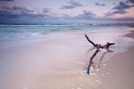 australian seascape at twilight (main beach, qld, australia) Stock Photo