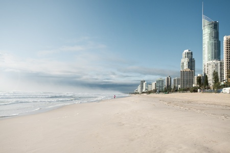 surfers paradise in morning light (gold coast, qld, australia) photo