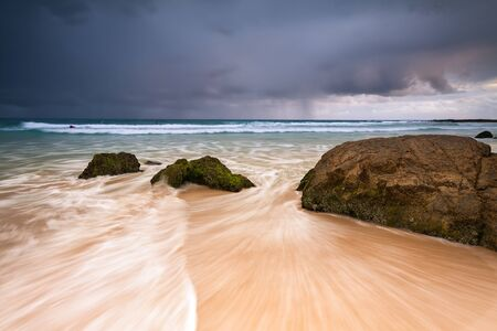 coolangatta: australian seascape at dawn (rainbow bay beach, queensland, australia)