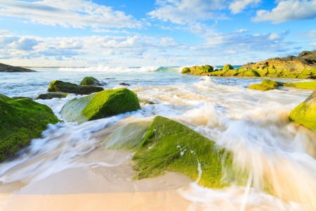 cabarita beach during the day (cabarita, nsw, australia) Stock Photo