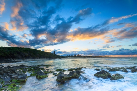 cabarita beach at twilight (cabarita, nsw, australia) Stock Photo