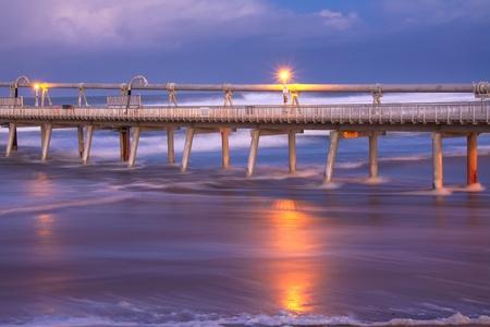 gold coast australia: the spit at twilight (gold coast, qld, australia)