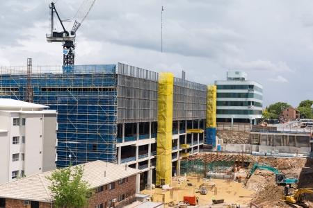 construction site with screens (brisbane, qld, australia)