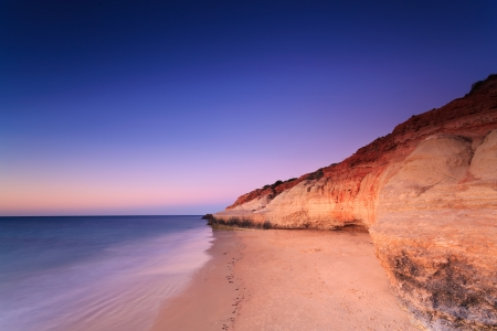 Port Noarlunga cliffs at twilight  Port Noarlunga,  South Australia, Australia