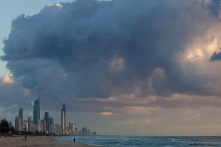 gold coast: Modern Australian city along the coast (Gold Coast, Surfers Paradise, QLD, Australia)