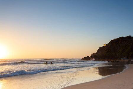 gold coast australia: Australian beach at sunrise (Gold Coast, Miami Beach, QLD, Australia)