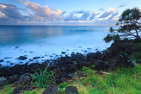 gold coast: Australian beach at sunrise (Gold Coast, Burleigh Heads, QLD, Australia)