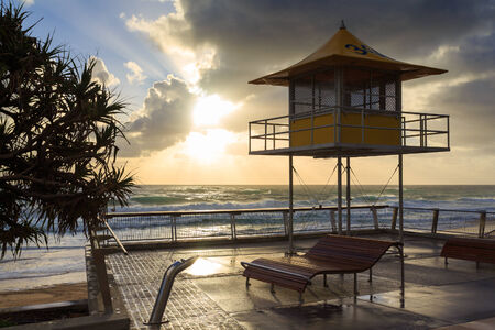 qld: Australian foreshore early morning (Gold Coast, Surfers Paradise, QLD, Australia)