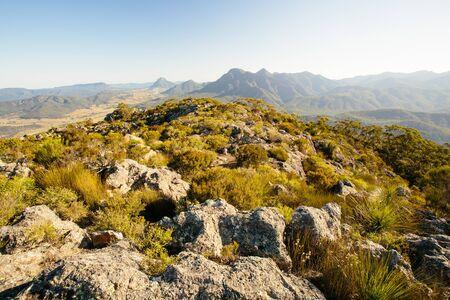 マルーン山の頂上、バーニー山国立公園、QLD、オーストラリア