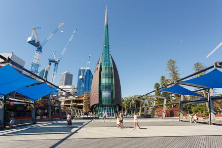 Perth, Australia - December 27, 2017: The Perth Bell Tower is home to the Swan Bells. Редакционное