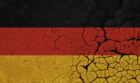 Germany Flag Crisis Stock Photo