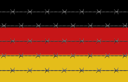 Germany Flag Barbed Wires Stock Photo