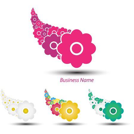 logo marketing: logo farandole flowers