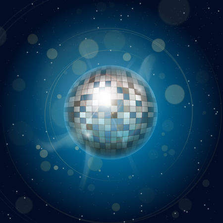 rnb: vector disco system blue Illustration