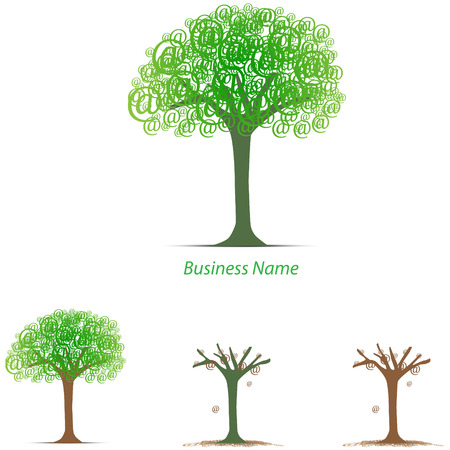 tree logo: logo arobase tree Illustration