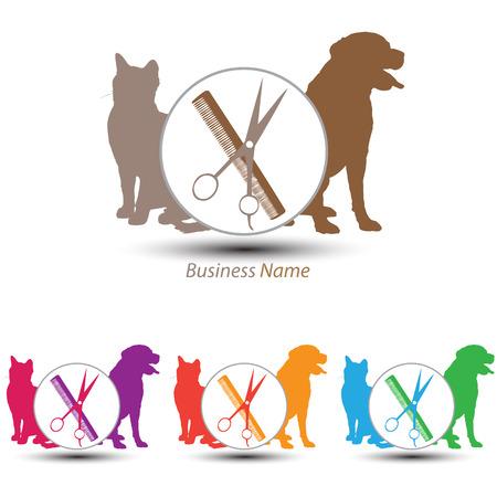 cat grooming: logo groomer
