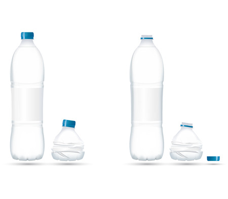 recycles: Water Bottle Compact with transparency Illustration
