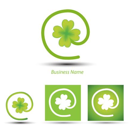 lucky clover: logo lucky clover arobase
