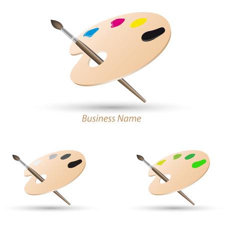 logo painting palette