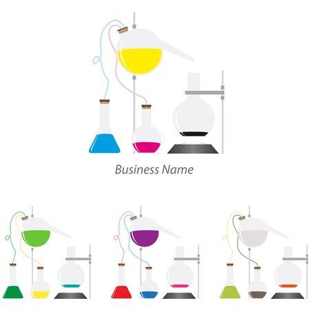 mixtures: logo chemistry laboratory