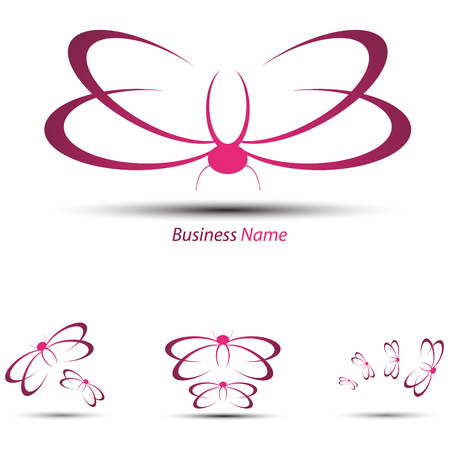 logo marketing: logo butterfly