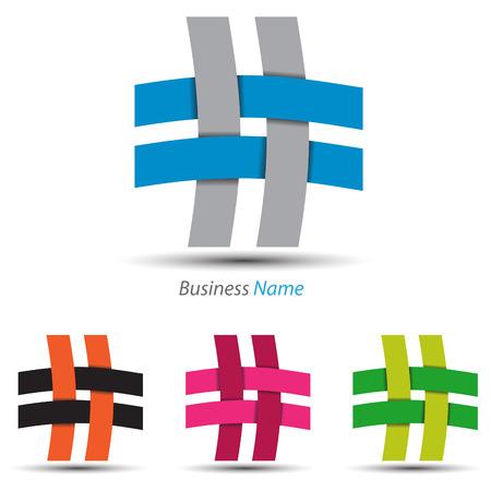 logo marketing: logo work together Illustration