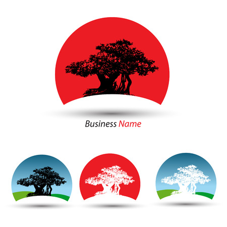 logo bonsai Stock Illustratie