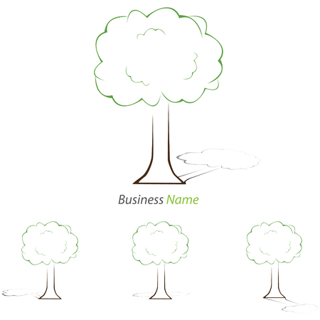 tree logo: Logo one tree Illustration