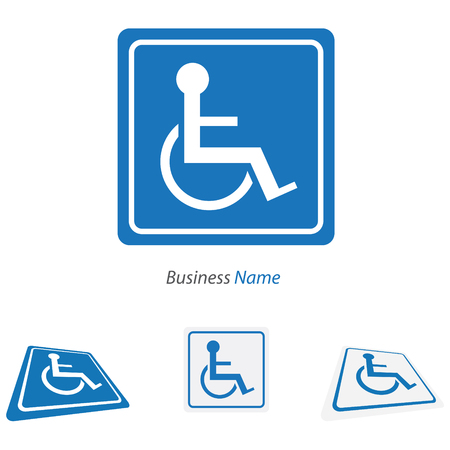 blue signage: logo handicap Illustration