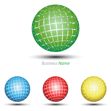logo marketing: logo green globe