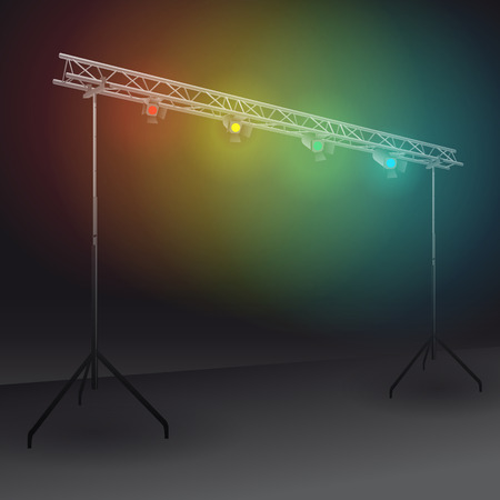 bridge lights with colors spotlights