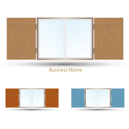 shutter: logo window shutter Illustration
